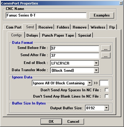 send tweaks for sending files to your CNC