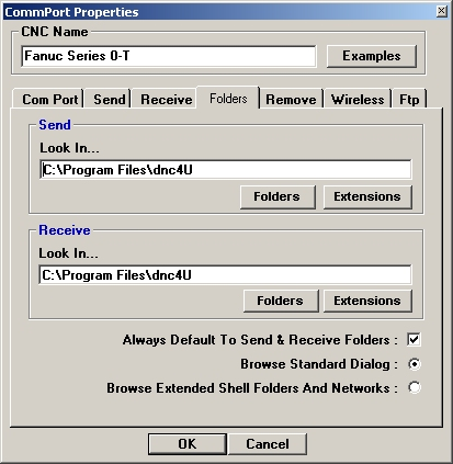 DNC software program and code editor for easy RS232 CNC file